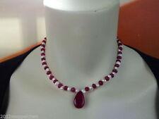 Halsketten und Anhänger mit Rubin für Damen aus natürlicher Echtschmuck