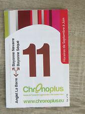 Fahrplan Frankreich Chronoplus Biarritz Bus Linie 11 Anglet - Bayonne