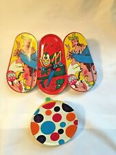 Vintage Set Of Tin Litho Noise Makers Party Supplies Colorful Display Party 4
