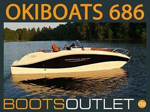 Bootsoutlet Motorboot Sportboot Okiboats 686 Barracuda Angelboot Boot Mercury