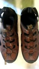 GREAT PAIR OF LAND'S END WOMEN'S LEATHER CLOSED TOE SANDALS--9B--EXC. COND.