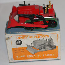 """DINKY TOYS 561 BLAW KNOX BULLDOZER  RED """" NR MINT"""" WITH  BX NOTE TRACKS REPLACED"""