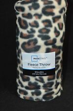"""Cheetah Leopard Warm Cozy Super Soft Comfort Fleece Throw Blanket 50x 60"""""""