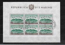 San Marino 1961 Kleinbogen Europa CEPT Mi.700 sauber gestempelt
