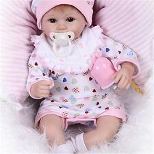 "Baby Doll Reborn Lifelike Vinyl Newborn Handmade Silicone Girl 45cm/18""Realistic"