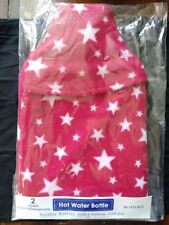 Vagabond Bags Red Stars Hot Water Bottle and Cover