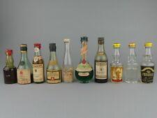 LOT  x10  Mignonnette ALCOOL / COGNAC / NAPOLEON / BISQUIT / CUSENIER / ETC...