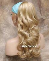 Blonde Mix Ponytail Hairpiece Long Wavy Extension Drawstring Hair piece