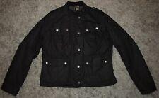 Barbour INTERNATIONAL CHICARA Wax Jacket in Black - UK Size 12 [3707]