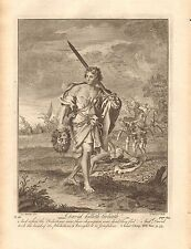 1770  ANTIQUE PRINT -BIBLE- DAVID KILLETH GOLIATH