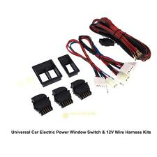 Universal Car Auto Electric Power Window Master Switch+ 12V Wire Harness Kit Set