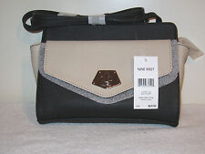 Nine West Rock and Lock Two-Tone Crossbody Purse NWT MSRP $69