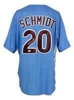 Mike Schmidt Signed Phillies Blue Majestic Coolbase Baseball Jersey JSA ITP