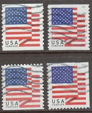 Scott #5260-63 Used Set of 4, U.S. Flags (Off Paper)