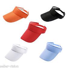 Sports Sun Visor Cap Hat Adjustable for Golf Tennis Fishing Jogging Headband