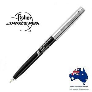 Fisher Space Pen Apollo Ballpoint Pen - 50th Anniversary - Black & Chrome