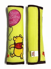 Winnie the Pooh Car Accessory : 2 pcs Seat Belt Shoulder Pad Covers #Lime