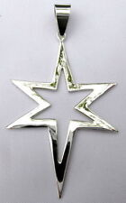 Sterling Silver (925)  Long  Star  Pendant  !!        Brand  New  !!