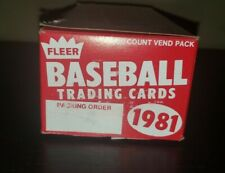 1981 FLEER Baseball Card VENDOR Box #4 - EMPTY BOX ONLY