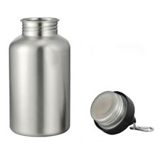 2L Large Wide Mouth Stainless Steel Water Drink Bottle Bike Cycling Sports