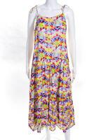 Playa Lucila Womens Tie Dye Print Dress Multi Colored Size Small