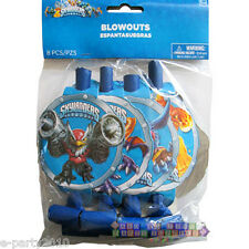 SKYLANDERS BLOWOUTS (8) ~ Birthday Party Supplies Favors Jet Vac Video Game Blue