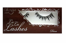 LA LA LASHES EYELASH EYELASHES PARTY LASH PEEPERS DIVA BLACK WITH CRYSTAL GEM