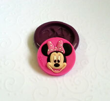Silicone Mold Minnie Mouse Cameo Mould (25mm) Cupcake Topper Clay Accessory Soap