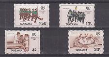 Tanzania 290-293 MNH Internetional Youth Year Globe Map Scouting 1985 UNIFORMI