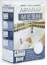 Airwrap Mesh 4 Sides Cot Protector - White