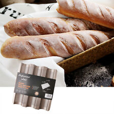 Perforated Baguette Allows Air Pan Non-Stick French Bread Wave Loaf Bake Mold