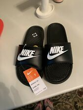 Nike Slides Sz9 Wm  Black With White Logo