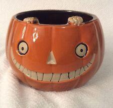 Boney Bunch Pumpkin Ceramic Candy Dish& Jar Candle Holder Yankee Candle New 2015