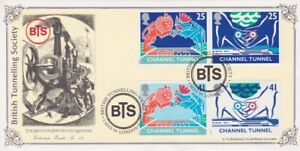 GB STAMPS CHANNEL TUNNEL FIRST DAY COVER 1994 BRITISH TUNNELLING SOCIETY