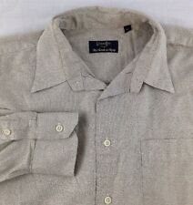 Gitman Brothers Dress Shirt Mens 16.5 Large Beige Long Sleeve Button Down