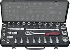 "KS Tools ultimate 1/2 "" Jeu de douilles 32-tlg 8-34mm Boîte à cliquet 920.1332"