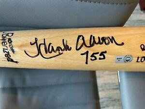 "Hank Aaron Atlanta Braves Signed Louisville Slugger Model Bat & ""755 HR"" Insc"