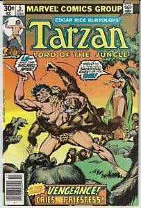 TARZAN LORD OF THE JUNGLE # 5 MARVEL 1977