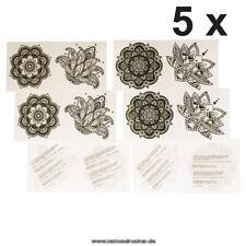 5 x 4teiliges Mandala Tattoo Set - 4 verschiedene Mandala Tattoos - no China (5)