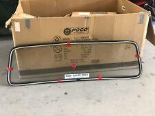 Ford F100 F250 Bronco Original Rear Cab Glass With Stainless Trim