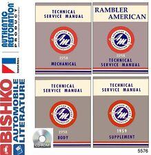 1958 1959 AMC Rambler Rebel Classic Shop Service Repair Manual CD