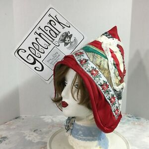 Patchwork witch hat, Christmas Elf, wizard, gnome, fairy, sz L, Geechlark 6054