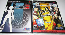 Shin Megami Tensei Persona 3 & 4 Dual Pack (PS2 Sony PlayStation 2)