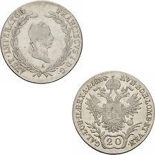 Österreich Kaiserreich Franz I. 20 Kreuzer 1828 A Wien Haus Habsburg ANK 45