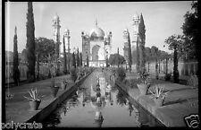 Inde Taj Mahal Palais architecture  - Ancien négatif photo an. 1920 - 1930