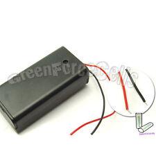 100 un. 2 Batería AA 14500 LR6 células Clip Holder Caja con alambre de plomo con Interruptor