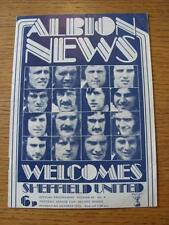 08/10/1973 West Bromwich Albion v Sheffield United [Football League Cup] (Item h