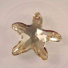 Pendant étoile de mer en cristal de Swarovski 6721 golden shadow  28 mm