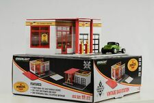 1:64 Pennzoil Tankstelle Gas Station Mechanic Vintage Diorama Greenlight no car