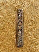 ancienne entrée de serrure en alu doré-Art déco-meuble/armoire/buffet